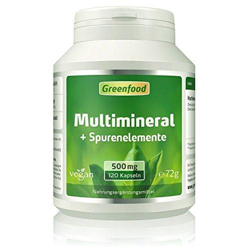 Multimineral + Spurenelemente, 510 mg, hochdosiert, 120 Kapseln, vegan, hohe Bioverfügbarkeit – für stabile Knochen, kräftige Muskeln, starke Nerven und mehr. OHNE künstliche Zusätze. Ohne Gentechnik. Vegi-Kapseln.