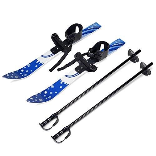 Odoland Mini Sci Taglia 15.5-20.5 cm e Ski Poles per Bambini Principianti, Snowboard a Bassa...