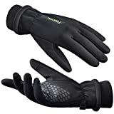 FREETOO Winter Gloves Women Windproof With Thermal Fleece Lining, [Anti-slip] Touchscreen Running Gloves for Cold Weather