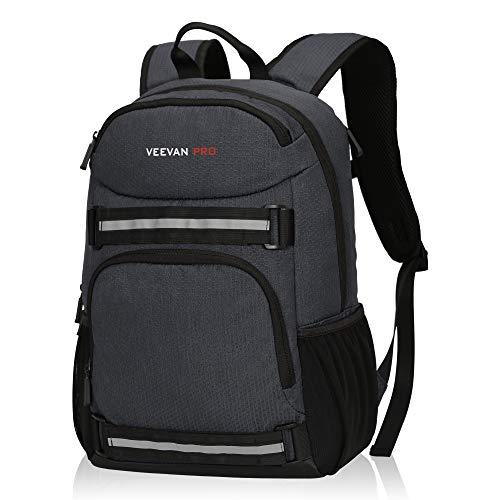 Veevanpro Cooler Backpack Insulated Backpack Cooler Lightweight Skateboard Backpack Leakproof Soft Cooler Bag 25 Cans, Dark Blue