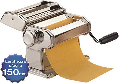 Maury's Sfogliatrice 9 Tagli Macchina Per La Pasta Fresca Fatta in Casa all'Uovo per Fettuccine...