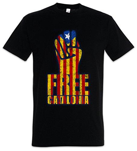 Urban Backwoods Free Catalonia Fist Camiseta De Hombre T-Shirt Negro Talla L