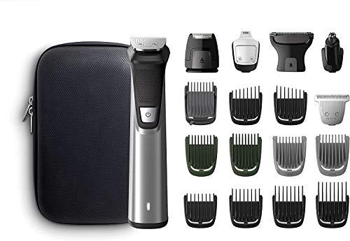 Philips Grooming Kit serie7000 MG7770/15 Tagliacapelli, Regolabarba uomo, Rifinitore Corpo/Naso/Orecchie, Impermeabile in acciaio, 18in1