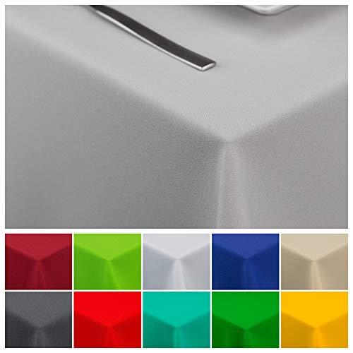 StoffTex Tischdecke Tischläufer Tischtuch Tischwäsche Tischdekoration Tafeltuch (Grau, 120 x 220 cm)