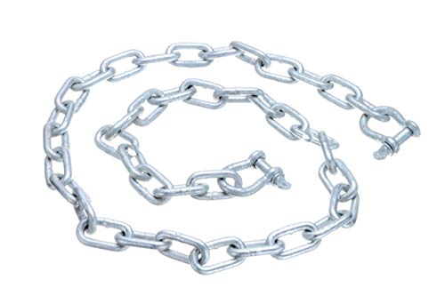 "Seachoice 44121 Galvanized ¼"" x 4  Anchor Lead Chain with (2) 5/16"" Galvanized Shackles"