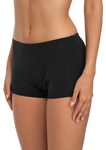 Merry Style Damen Badeshorts Bikinihose Modell L23L1 (Schwarz (9240), 38)