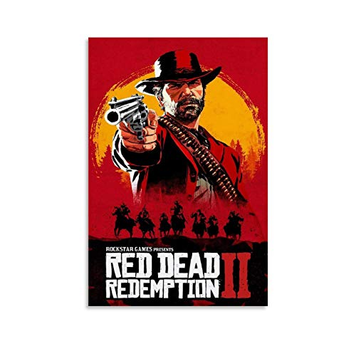 ZHILIAO Red Dead Redemption 2 - Póster artístico de pared (30 x 45 cm)