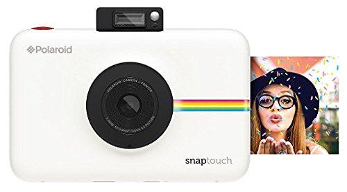 Polaroid Snap Touch - ポラロイド Snap デジタルインスタントカメラ - あのPolaroid Snapにタッチパネルモデルが登場! - データも保存できる プリンタ内蔵 ZINK フォトペーパー対応 (White ( ホワイト )) 並行輸入品
