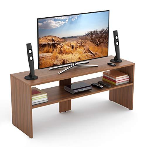 BLUEWUD Oliver TV Unit/Entertainment Center Table (Walnut)