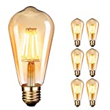 Ampoule LED Edison style vintage antique Ambre chaud 2700 K 4 W...