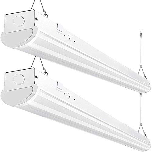 Bbounder 8FT LED Wraparound Shop Light, 72W, 8400 Lumen, 5000K Daylight, 8 Foot LED Linear Fixtures for Garage, Workshop, Warehouse, Not Dimmable, ETL Certified, 2 Pack