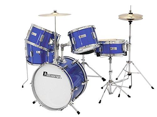 Batería para niños BLUE ANGEL con accesorios, 5-piezas, azul - Batería infantil / Instrumento de percusión - klangbeisser