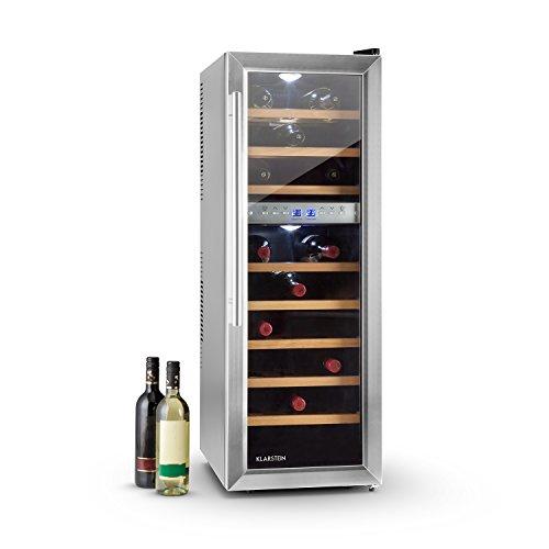 Klarstein Reserva 27D - Frigorifero per Vino, 76 Litri, 27 Bottiglie, CEE: C, 2 Zone di...