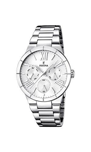 Festina Damen Analog Quarz Uhr mit Edelstahl Armband F16716/1