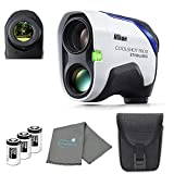 Nikon COOLSHOT ProII Golf Rangefinder Stabilized View Bundle with 3 CR2 Batteries and a Lens Cloth