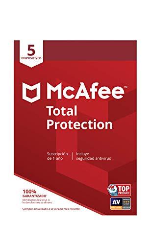 McAfee Total Protection 2019 - Antivirus, PC/Mac/Android/Smartphones, 5 Dispositivos, Suscripción de 1 año