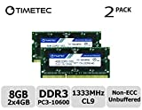 Timetec Hynix IC 8GB Kit (2x4GB) DDR3 1333MHz PC3-10600 Unbuffered Non-ECC...