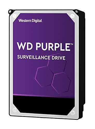 Western Digital WD30PURZ WD Purple Hard Disk per Videosorveglianza con Tecnologia Allframe 4K 3.5 Pollici SATA 6 GB/s 180TB/Anno, 64 MB Cache, 5400 RPM, 3 TB, Grigio