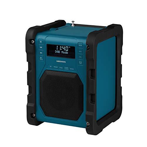 MEDION P66098 DAB+ Baustellenradio mit Bluetooth...