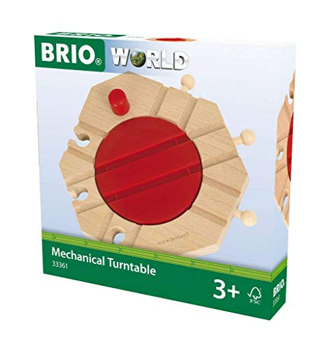 BRIO World - 33361 Mechanical Turntable | Train Toy Accessory for Kids Ages 3 and Up