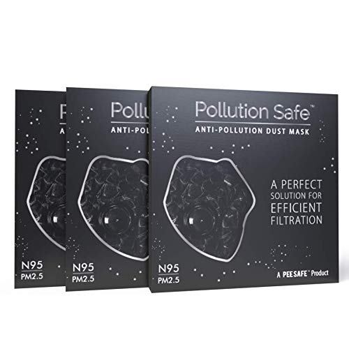 Pollution Safe Reusable PM 2.5, N95, 4 Layered Filtration Anti Pollution and Anti Dust Mask