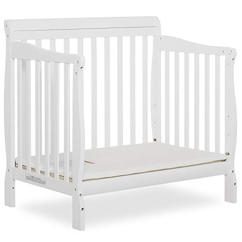 Product Image 8: Dream On Me Aden 4-in-1 Convertible Mini Crib in White, Greenguard Gold Certified