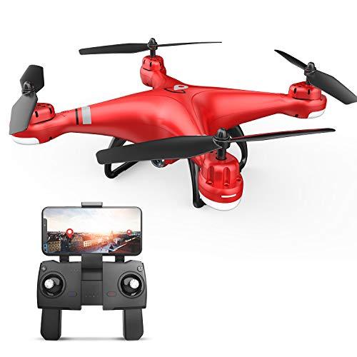 Drone GPS Eanling HS110G con videocamera 1080P per adulti e bambini, quadricottero RC con videocamera WiFi FPV Live, ritorno automatico