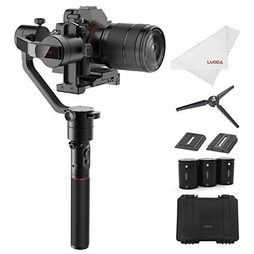 MOZA カメラスタビライザー AirCross ミラーレスカメラ 3軸手持ちジンバル 1800gの搭載重量 自動チューニング 遅延撮影 4操作モード 12時間ランタイム Sony A7SII Pana GH3 GH4 GH5などに対応 【正規品 一年間保証 日本語説明書付き】