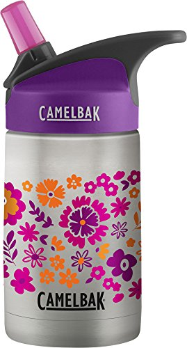 CamelBak Eddy Kids Vacuum Insulated Stainless Steel Bottle 12 oz, Retro Floral