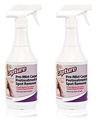 Power Booster for Capture Carpet and Rug Dry Cleaner - Lightly spray the soiled area with Capture Soil Release Pre-Mist. This helps loosen tough or set-in stains. Tip: For heavily soiled traffic lanes, very gently brush the Pre-Mist into the carpet b...