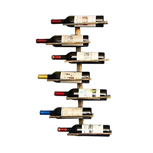Isasar, cantinetta portabottiglie da parete stile retr vintage per ristoranti, bar, per arredare Hold 7 bottles