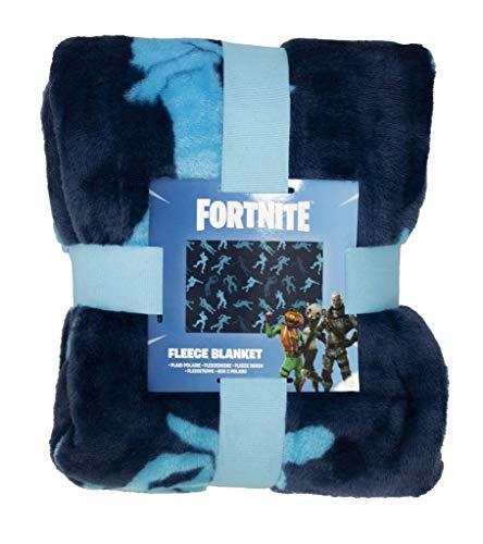 Fortnite Oficial, Polar poliéster, Azul, Fleece Blanket