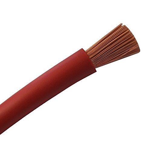Batteriekabel - Aderleitung – ROT - H07V-K 6-10 - 16-25 - 35-50 - 70 oder 95 mm² - Batterie Kabel 100% OFC Kupfer - Meterware - 6mm2-10mm2-16mm2-25mm2-35mm2 + 50mm2-70mm2-95mm2