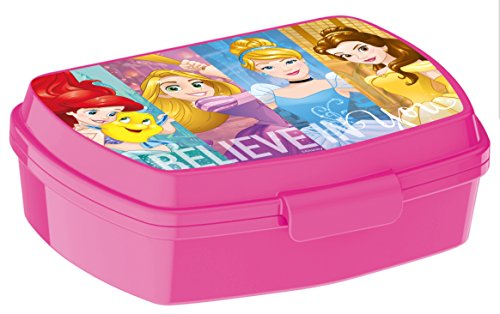 ALMACENESADAN, 0416, Sandwichera Rectangular Multicolor Disney Princesas Adventure, 15x10x5,5 cms