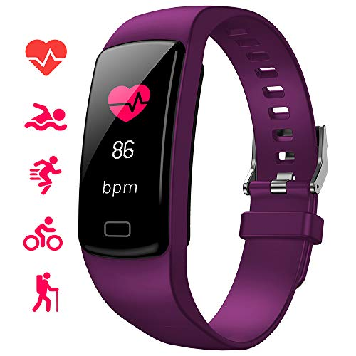 WISINNO Fitness Tracker with Heart Rate Watch, Activity Tracker Watch with Blood Pressure Measurement, Screen ip67 Waterproof, Sleep Monitor, Exercise Mode Pedometer Watch for Men Women Kids.
