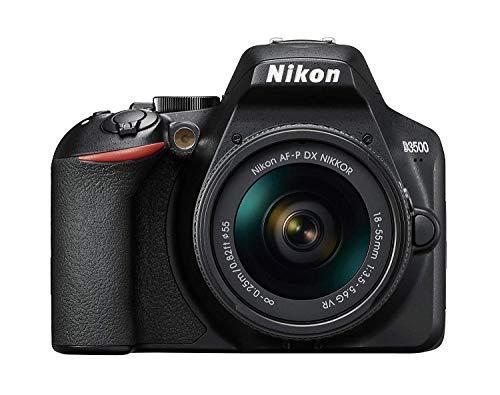 Nikon D3500 Fotocamera Reflex 24MP Full HD ISO 100-25600 Sistema Autospot Modalit Guida LCD SnapBridge Kit con Obiettivo AF-P 18/55VR Custodia e Libro Versione Nikonisti