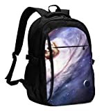 asfg Resistente a Las Manchas Sloth Multifunctional Personalized Customized USB Backpack, Student School Outdoor Backpack,Travel Bag Laptop Bookbags Business Daypack.