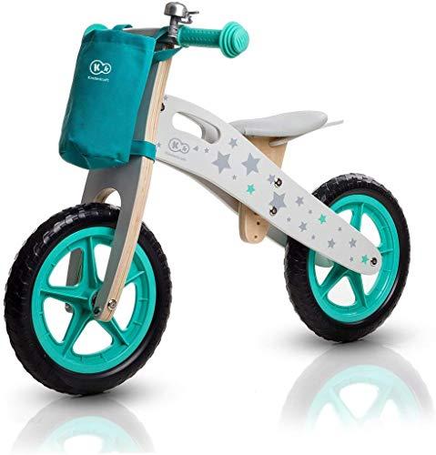 Kinderkraft Runner Stars Biciclette Velocipede for bambini Bici Senza Pedali In Legno Con Borsa E Campanello In 2 Colori