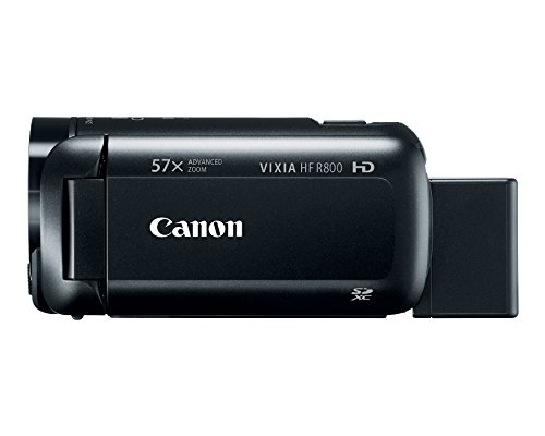 Product Image 2: Canon VIXIA HF R800 Portable Video Camera Camcorder with Audio Input(Microphone), 3.0-Inch Touch Panel LCD, Digic DV 4 Image Processor, 57x Advanced Zoom, and Full HD CMOS Sensor, Black