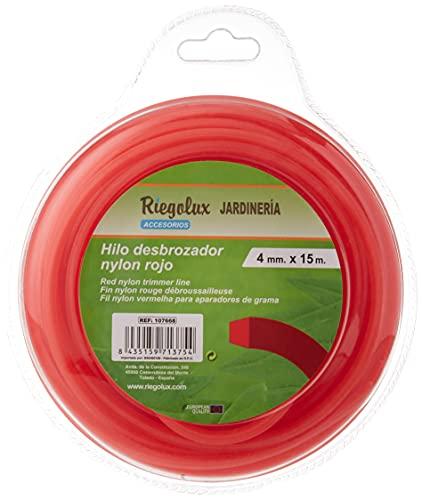 Riegolux 107668 Filo per decespugliatore Quadrato in Nylon, Giallo, 4 mm x 15 m