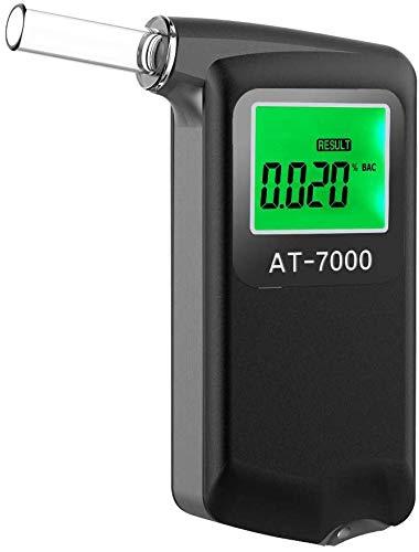 Ciaoed Etilometro Portatile Alcol Tester con Display LCD Digitale Precisione di Livello Professionale Tester Dell'alcool con 5 Bocchini