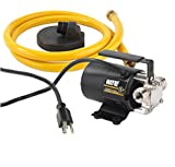 WAYNE PC2 Portable Transfer Water Pump With Suction Hose And Attachment, Black