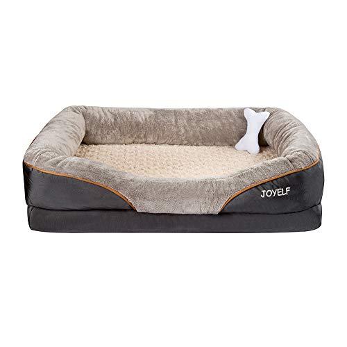 JOYELF - Letto per cani in memory foam, taglia XL, ortopedico e divano con copertura lavabile rimovibile per cani di taglia grande