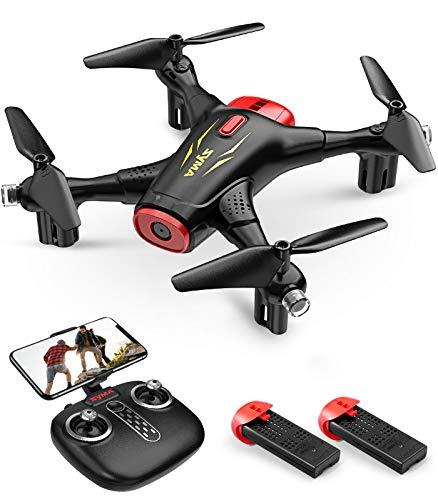 SYMA Drone RC con fotocamera 720P FPV WiFi X400 2.4 GHz telecomando 3D Flip funzione di avvio / atterraggio tramite pulsante, quadricottero per allenamento interno, regalo per bambini e ragazzi