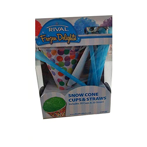 Rival Snowcone Cups and Straws Set, by Rival