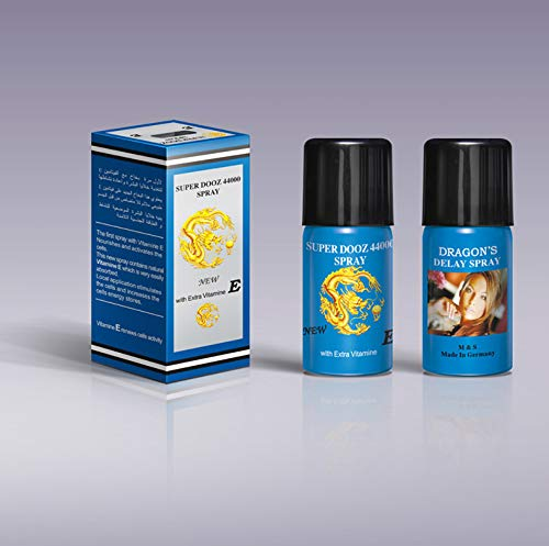 1x Super Dooz Dragon 44000 Delay Spray for Men with Extra Vitamin E Plus Love Potion Pen