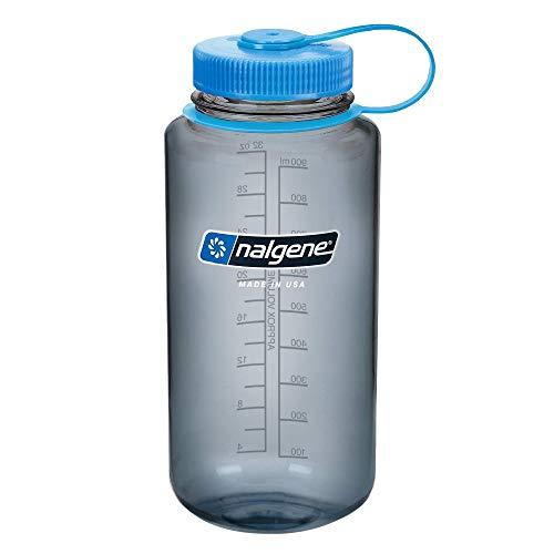 Nalgene Tritan Wide Mouth Water Bottle, 32-Ounce-Gray