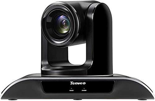 Tenveo VHD3U Telecamera per conferenze Zoom ottico 3X 1080p Full-HD, webcam PTZ USB grandangolare con telecomando, per streaming live YouTube/Twitch/OBS, videoconferenze Skype/Zoom