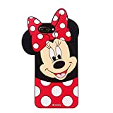 Cases for iPhone 8 Plus, iPhone 7 Plus Case, iPhone 6S Plus /6 Plus Minnie 3D Cartoon Slim TPU Protective Shockproof Cover, Kids Girls Gifts Cases, Thick Protector Skin for 8 Plus/7 Plus/6S Plus/ 5.5
