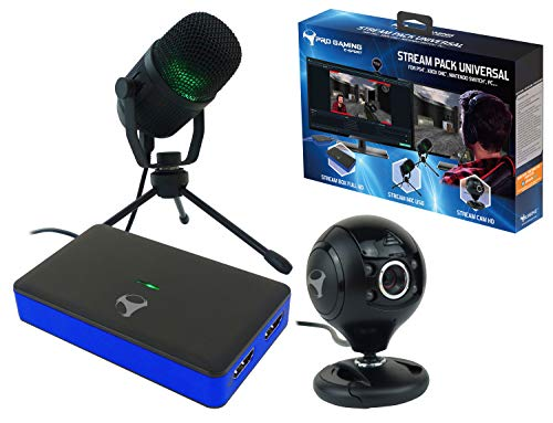 Subsonic - Stream Pack di accessori per youtubers con box di acquisizione video Full HD, microfonocardioide e telecamera HD - Compatibile console PS4 / Slim/ Pro - Xbox One / S / X - Switch - PC